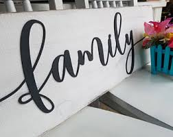 family sign family sign home decor alphabet photography on