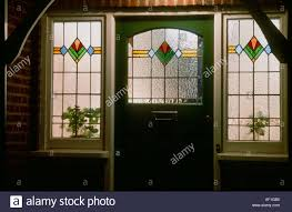 stained glass door patterns art deco stained glass front door at night british housing london