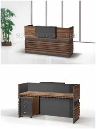 Hairdressing Reception Desk China Popular Simple Wooden Front Office Counter Salon Reception