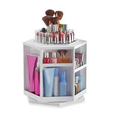 Bathroom Makeup Storage Ideas by Lori Greiner Spinning Cosmetic Organizer In White College Dorm