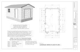 g527 24 x 8 garage plans with loft and dormer sds beauteous