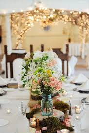 jar floral centerpieces 100 fab country rustic wedding ideas with tree stump wedding