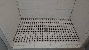 contemporary white shower floor tile gray intended decor