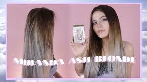 gambar tutorial ombre rambut miranda ash blonde grey review tutorial bahasa indonesia boya