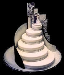 weddings cakes white runway