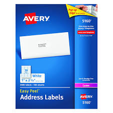 amazon com avery easy peel address labels for laser printer 1 x