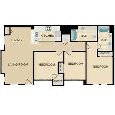 2 Bed 2 Bath House Plans Bloomington Grove U0026 Lillian Court Availability Floor Plans