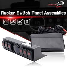 led light bar switch panel terrain vision 6 rocker switch panel pod control source system box