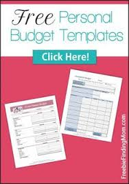 free family budget template printables family budget template