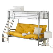 White Futon Bunk Bed Bedroom Modern Black And White Metal Bunk With White Bed And
