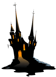spooky clipart haunted castle pencil and in color spooky clipart