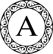 monogram letter letter a monogram clip at clker vector clip online
