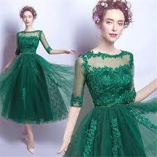 green dresses for wedding guest 2017 bridesmaid dress wedding guest dress half sleeve tulle