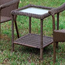 furniture of america cm ot1812 t arimo wicker end table the mine