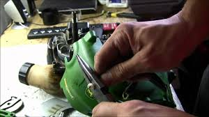 how to restring john deere bc1600 c1200 string trimmers pt1 2