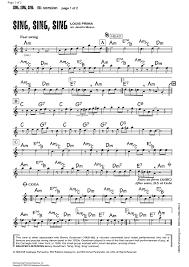 sing sing sing with a swing louis prima sing sing sing b flat lead sheet sheet for piano and