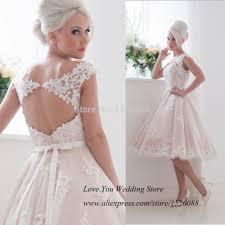 Aliexpress Com Buy Lamya Vintage Sweatheart Lace Bride Gown Popular Princess Short Wedding Dresses Buy Cheap Princess Short