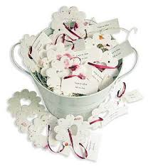 seed paper wedding favors wedding favors bridal shower favors favor idea