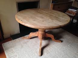 Round Dining Table Extends To Oval Antique Pine Round Dining Table Extends To Oval Large Pedestal
