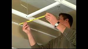 Armstrong Acoustical Ceiling Tile 704a by Hg Grid Suspended Vinyl Ceiling Grid Installation Youtube
