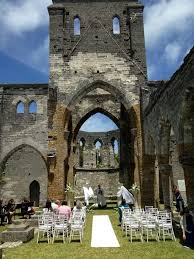 wedding arches in church wedding at the unfinished church st georges bermuda bermudian