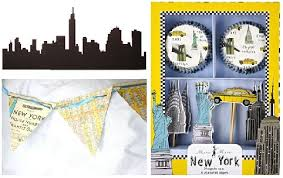 New York City Themed Party Decorations - nyc themed products to add a little life and color to a tiffany