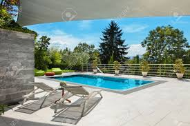 beautiful terrace with swimming pool design us house and home