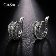 earring studs with loop chsoul new design stud earrings plant vine ear loop for