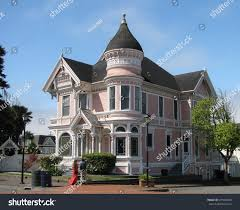 victorian queen anne eureka california july 23 2017 pink stock photo 697466560