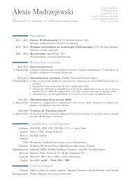 latex resume template moderncv exles full service writer s relief inc preparing resume using latex