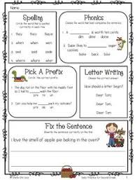 grammar for second grade is great to use for morning work or