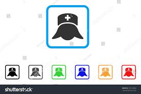 hospital nurse head icon flat pictogram stock vector 723118255