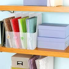 Closet Craft Room - scrapbook organization ideas for small spaces storage craft room