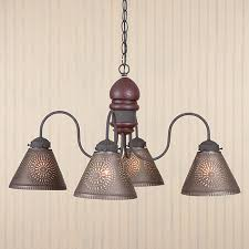 punched tin lighting fixtures cambridge punched tin chandelier