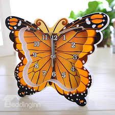 Butterfly Desk Accessories Wonderful 4 Color Butterfly Design Desk Clock Desktop Decoration