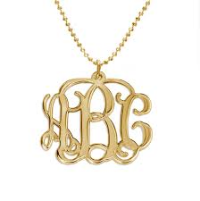 gold plated monogram necklace 18k gold plated monogrammed pendant mynamenecklace