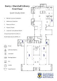 barry j marshall library floor plans university library the