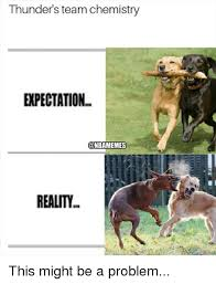 Chemistry Dog Meme - thunder s team chemistry expectation reality this might be a