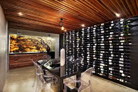Wine Cellar Wall - wine rack wall wine cellar contemporary with black lacquer table
