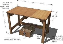 Wood Desk Plans Free by Ana White Brookstone Desk Diy Projects