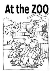 coloring activity book zoo animals
