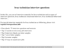 Hvac Technician Resume Samples by Hvac Technician Interview Questions