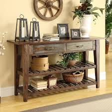 Pine Console Table Shop Coast To Coast Pine Console Table At Lowes Com