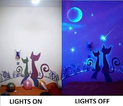 glow paint glow in the paint wall murals diy cozy home