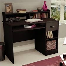 Small Wood Desk South Shore Axess Small Wood Computer Desk With Hutch In Chocolate
