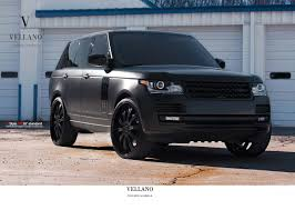 black land rover with black rims range rover 22 inch rims matte black all black everything