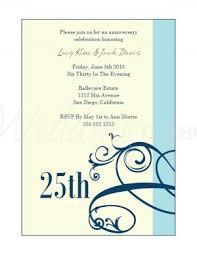 wedding anniversary invitations printable blue scrollwork wedding anniversary invitations template