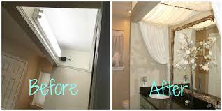 bathroom fluorescent light covers diy fluorescent light fixture cover light fixtures