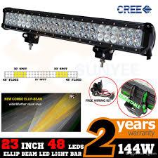 free ship 22 5 144w cree led light bar truck work light 48x3w off