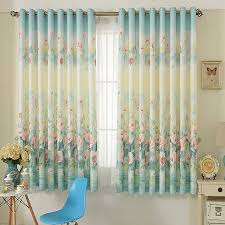 Custom Made Window Blinds Aliexpress Com Buy Chinese Printed Floral Short Blackout Curtain